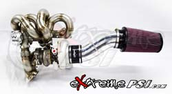 Extreme PSI/JM FAB 62mm V-Band Inlet & Outlet Turbo Kit: Mitsubishi Lancer EVO VII, VIII & IX