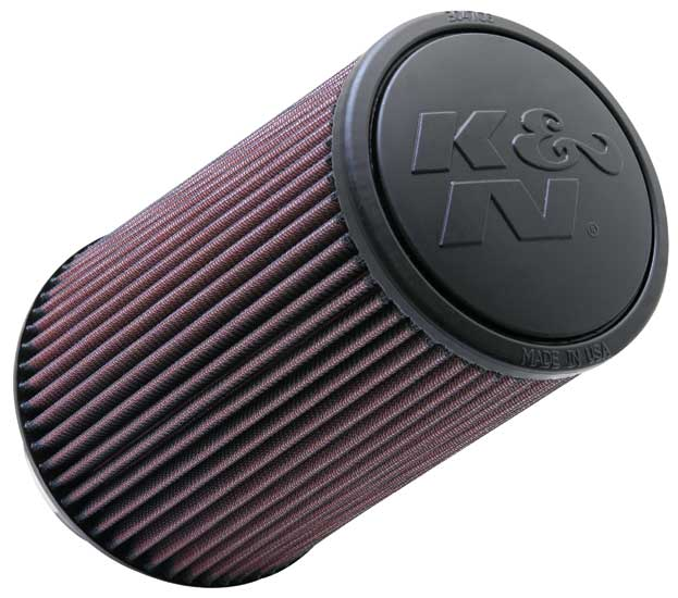 "K&N Universal High Flow Air Filters: 4.0"" Inside Diameter, 9.0"" Height"