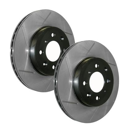 StopTech Sport Slotted Brake Rotors : Mitsubishi Evolution X 2008-2015 (Front Pair) *BLACK FRIDAY SALE*