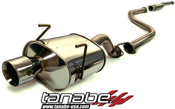 Tanabe Medallion Touring Catback Exhaust: Honda Civic Hatchback 1996-2000