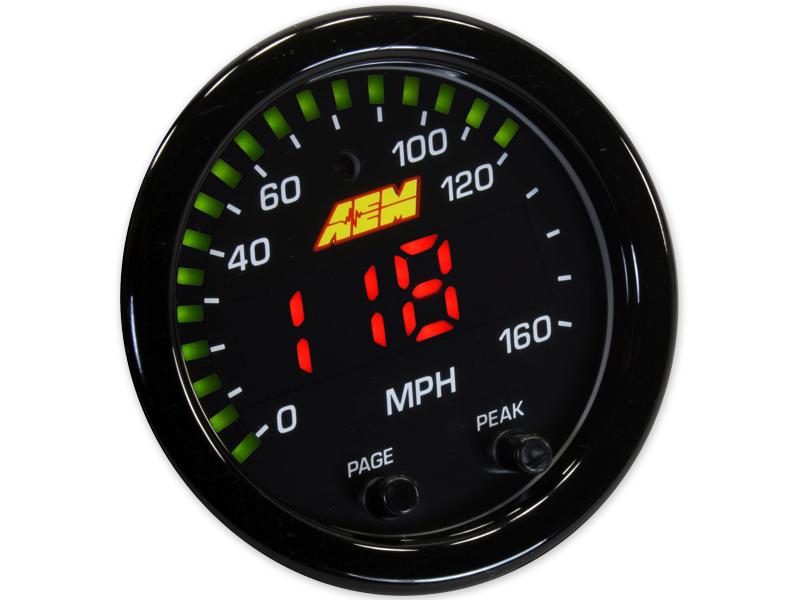 AEM X-Series GPS Speedometer Gauge: 0~160mph / 0~240kph