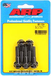 ARP Crank Pulley Bolt Set: M8 x 1.25 x 35 hex black oxide bolts (Set of 5)