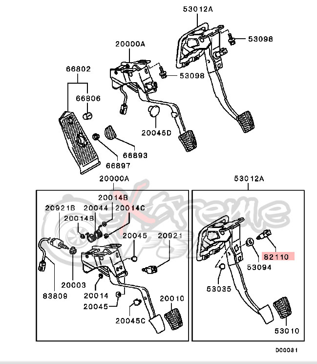 OEM Brake Switch: Mitsubishi EVO VIII/IX