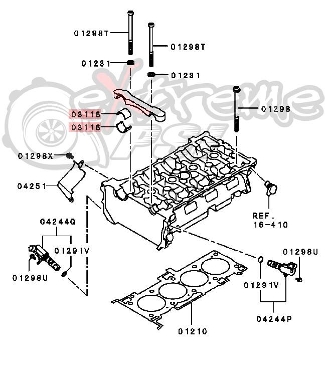 OEM Camshaft Bearing Cam Cap: Mitsubishi EVO X