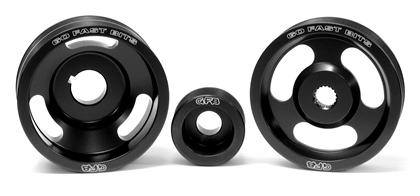 Go Fast Bits 3-Piece Underdrive Pulley Kit w/Belts (Crank, Alternator & Power Steering): Subaru WRX/STI 2004-2010