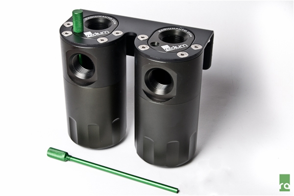 Radium Engineering Dual Oil Catch Can Kit: Universal Fitment
