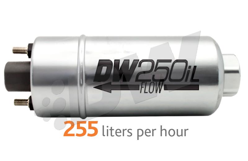 DeatschWerks DW250iL 255 LPH In-Line Fuel Pump : Universal Fitment