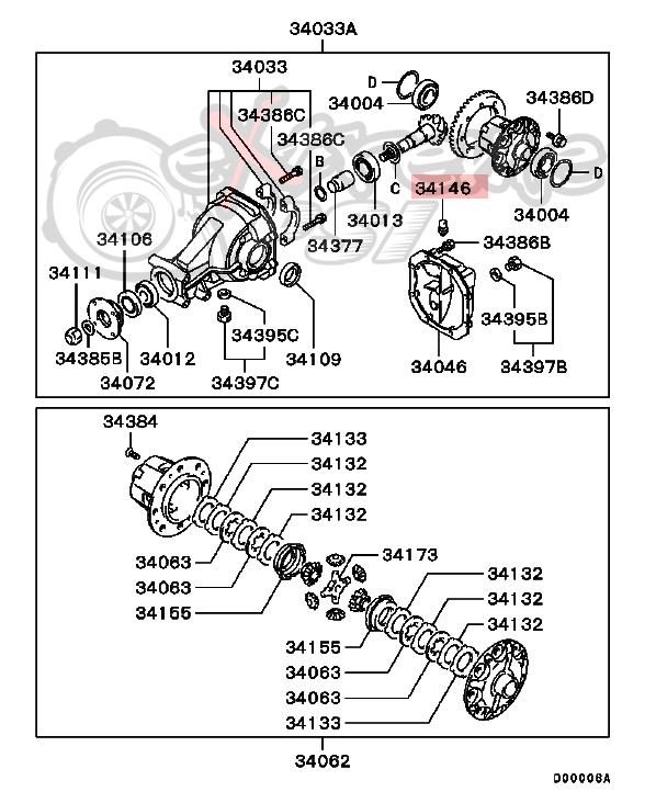 OEM Mitsubishi Rear Differential Plug Breather: Mitsubishi EVO 8 & 9