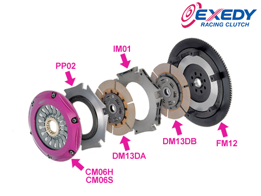 Exedy Replacement flywheel for Twin/Triple Plate: Mitsubishi Evo VIII & IX