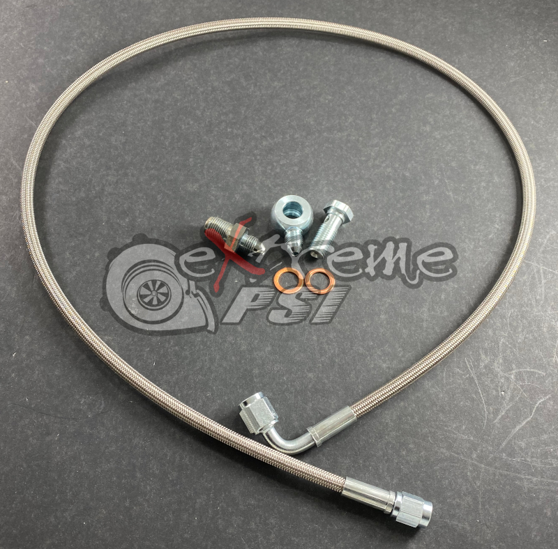 Extreme PSI -3AN Oil Feed Line Kit for PTE/Garrett Turbocharger: Mitsubishi Evolution X 2008-2015