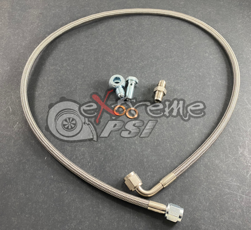 Extreme PSI -4AN Oil Feed Line Kit for PTE/Garrett Turbocharger: Mitsubishi Evolution X 2008-2015