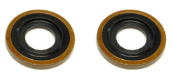 OEM Turbo Oil Return Line Washer for Oil Pan (2x): Mitsubishi