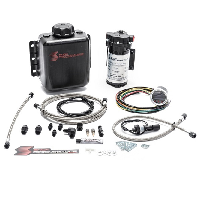 Snow Performance Stage 2 Boost Cooler Forced Induction Progressive Water-Methanol Injection Kit (Stainless Steel Braided Line, 4AN Fittings)