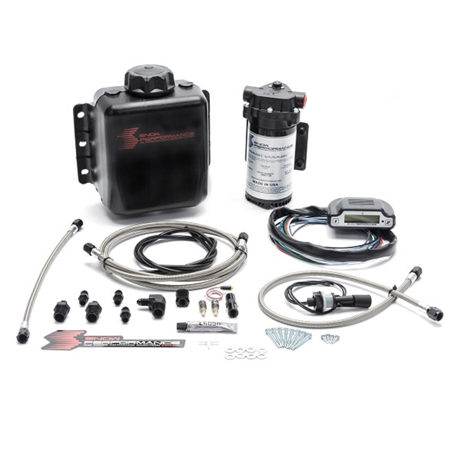 Snow Performance Stage 3 Boost Cooler Direct Injected 2D MAP Progressive Water-Methanol Injection Kit (Stainless Steel Braided Line, 4AN Fittings)