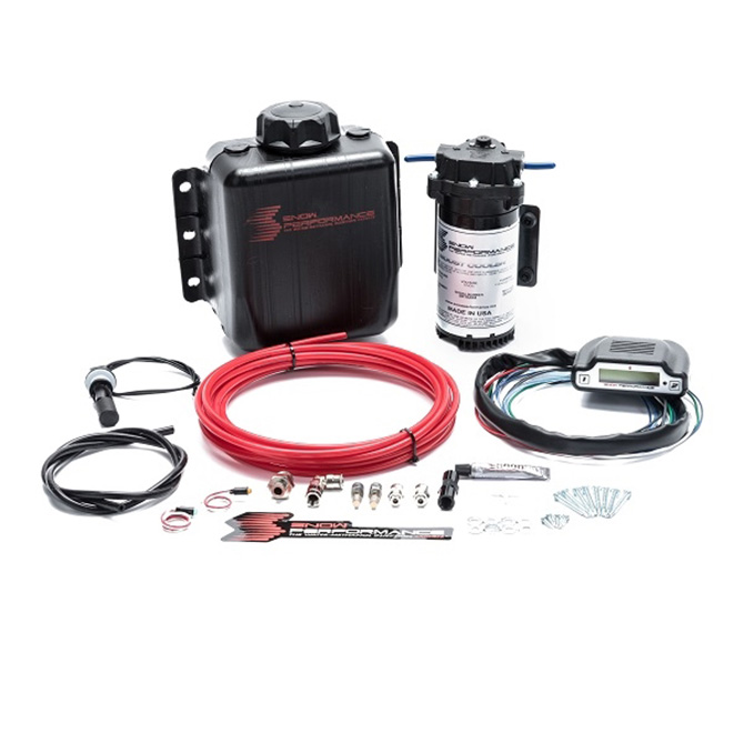 Snow Performance Stage 3 Boost Cooler Direct Injected 2D MAP Progressive Water-Methanol Injection Kit (Red High Temp Nylon, Quick-Connect Fittings)