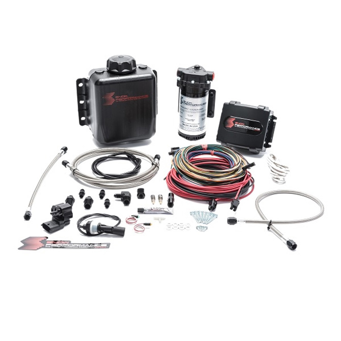 Snow Performance Stage 4 Boost Cooler Water-Methanol Injection Kit (Stainless Steel Braided Line, 4AN Fittings)