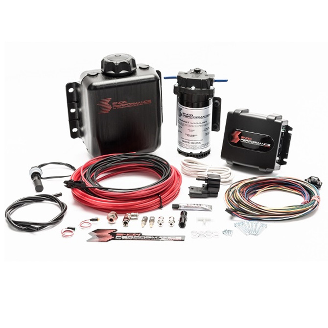 Snow Performance Stage 4 Boost Cooler Water-Methanol Injection Kit (Red High Temp Nylon, Quick-Connect Fittings)