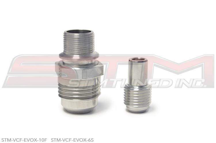 STM -AN Valve Cover Fitting Kit (-10AN Front & -6AN Side): Mitsubishi Evolution X 2008-2015