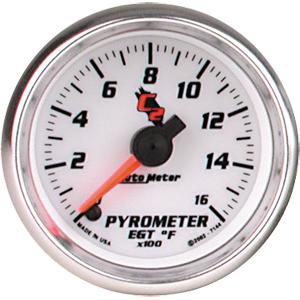 Auto Meter C2 Gauge : Pyrometer/EGT 0-1600 deg. F