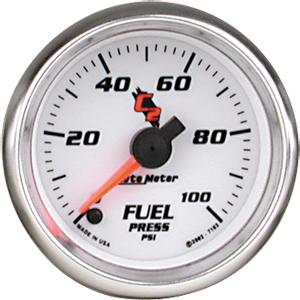 Auto Meter C2 Gauge : Fuel Pressure 0-100 PSI