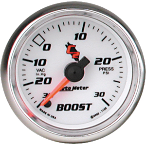 Auto Meter C2 Gauge : Boost/Vacuum 30 In Hg.-Vac./30 PSI