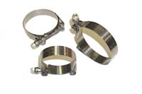 "Clampco Stainless Steel T Bolt Clamp : Fits 2.25"" I.D. Coupler"
