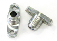 Billet Aluminum Oil Drain Fitting : -10 AN Male
