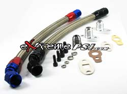 -10AN Oil Return Line Kit (Stainless Steel Braided) : Mitsubishi EVO 8/9