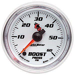 Auto Meter C2 Gauge : Boost 0-60 PSI