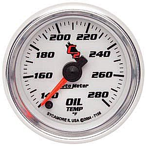 Auto Meter C2 Gauge : Oil Temp 140-280 deg. F