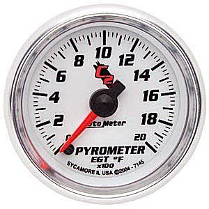Auto Meter C2 Gauge : Pyrometer/EGT 0-2000 deg. F