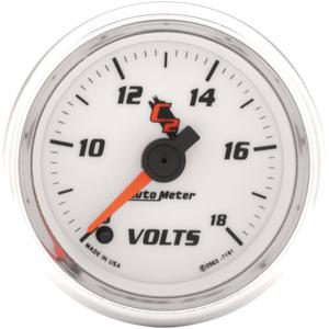 Auto Meter C2 Gauge : Voltmeter