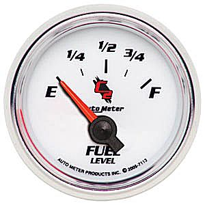 Auto Meter C2 Gauge : Fuel Level 73-10 ohms