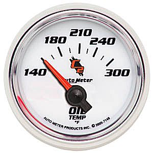 Auto Meter C2 Gauge : Oil Temp 140-300 deg. F