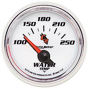 Auto Meter C2 Gauge : Water Temp 100-250 deg. F
