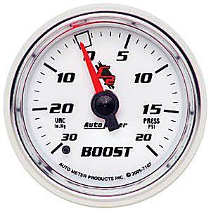 Auto Meter C2 Gauge : Boost/Vacuum 30 In Hg.-Vac./20 psi