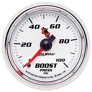 Auto Meter C2 Gauge : Boost 0-100 PSI