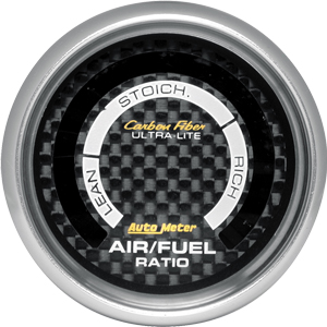 Auto Meter Carbon-Fiber Gauge : Air/Fuel Ratio