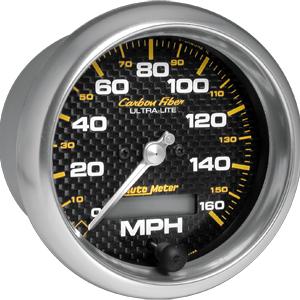 Auto Meter Carbon-Fiber Gauge : Speedometer