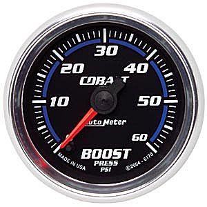 Auto Meter Cobalt Gauge : Boost 0-60 PSI