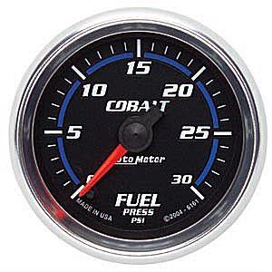 Auto Meter Cobalt Gauge : Fuel Pressure 0-30 PSI