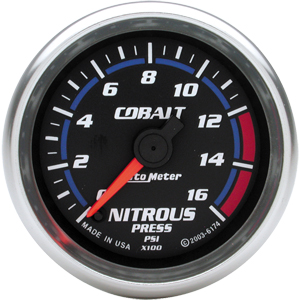 Auto Meter Cobalt Gauge : Nitrous Pressure 0-1600 PSI