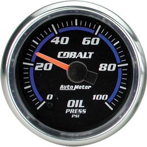 Auto Meter Cobalt Gauge : Oil Pressure 0-100 PSI