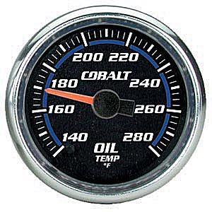 Auto Meter Cobalt Gauge : Oil Temp 140-280 deg. F