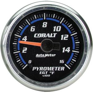 Auto Meter Cobalt Gauge : Pyrometer 0-1600 deg. F