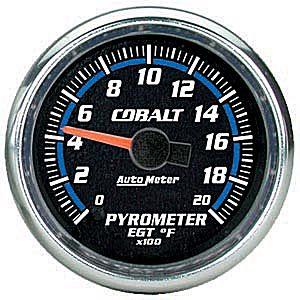 Auto Meter Cobalt Gauge : Pyrometer 0-2000 deg. F