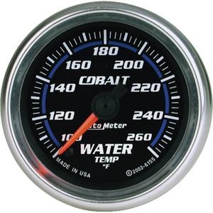Auto Meter Cobalt Gauge : Water Temp 100-260 deg. F
