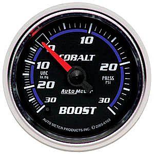 Auto Meter Cobalt Gauge : Boost / Vacuum 30 In Hg.-Vac./30 PSI
