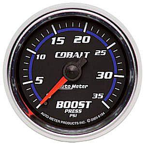 Auto Meter Cobalt Gauge : Boost 0-35 PSI