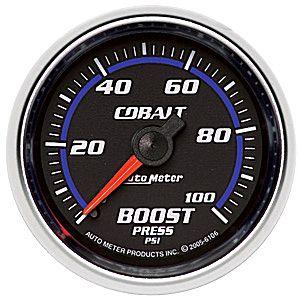Auto Meter Cobalt Gauge : Boost 0-100 PSI
